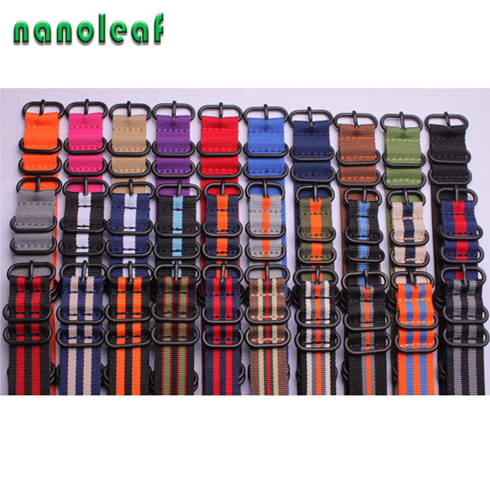 Heavy Duty Nylon Straps 18MM 20MM 22MM 24MM Sport Fashion Watch Band for NATO Zulu Wristband Black Ring Buckle 30 Color Options(China)