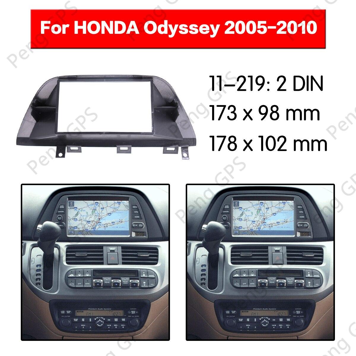 2 Din Car Radio stereo Fitting installation fascia For HONDA Odyssey 2005-2010 Stereo Frame Fascias Mount Panel DVD CD trim ABS