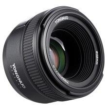 Yongnuo YN 50mm f1.8 lente de foco automático de grande abertura para nikon dslr câmera borrada de fundo visão ao vivo retrato lente de foco fixo