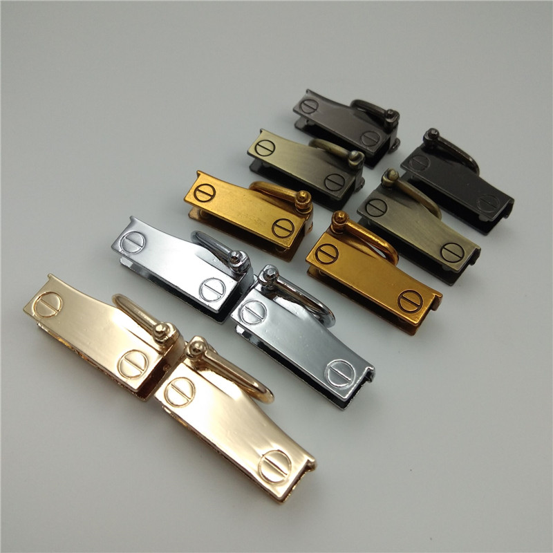 (10 Pieces/lot) DIY Handbags Shoulder Bag Links Both Sides Decoration Buckle Bag Hook Hardware Accessories