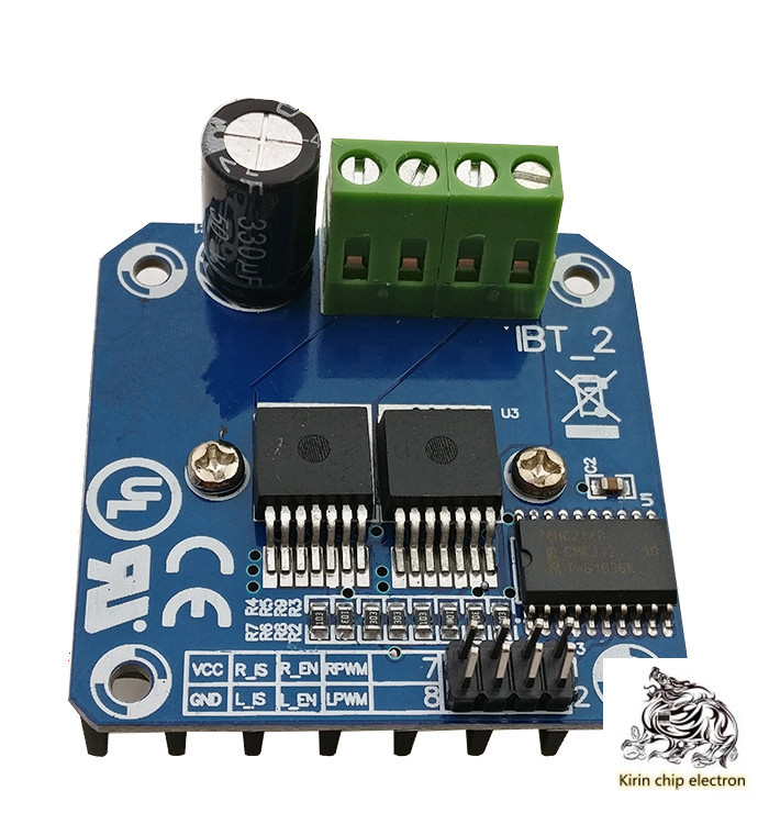 5pcs/lot High Power Intelligent Vehicle Motor Drive Board Module BTS7960 43A Current Limiting Control Semiconductor Drive