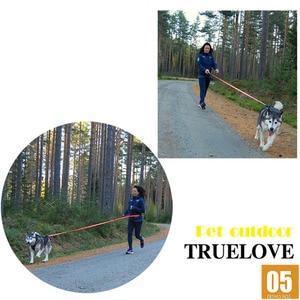 Image 2 - Truelove Dog Running Bungee Leash Hand held Waistworn Adjustable Nylon Elastic Retractable Dog Leads for Running Jogging Walking