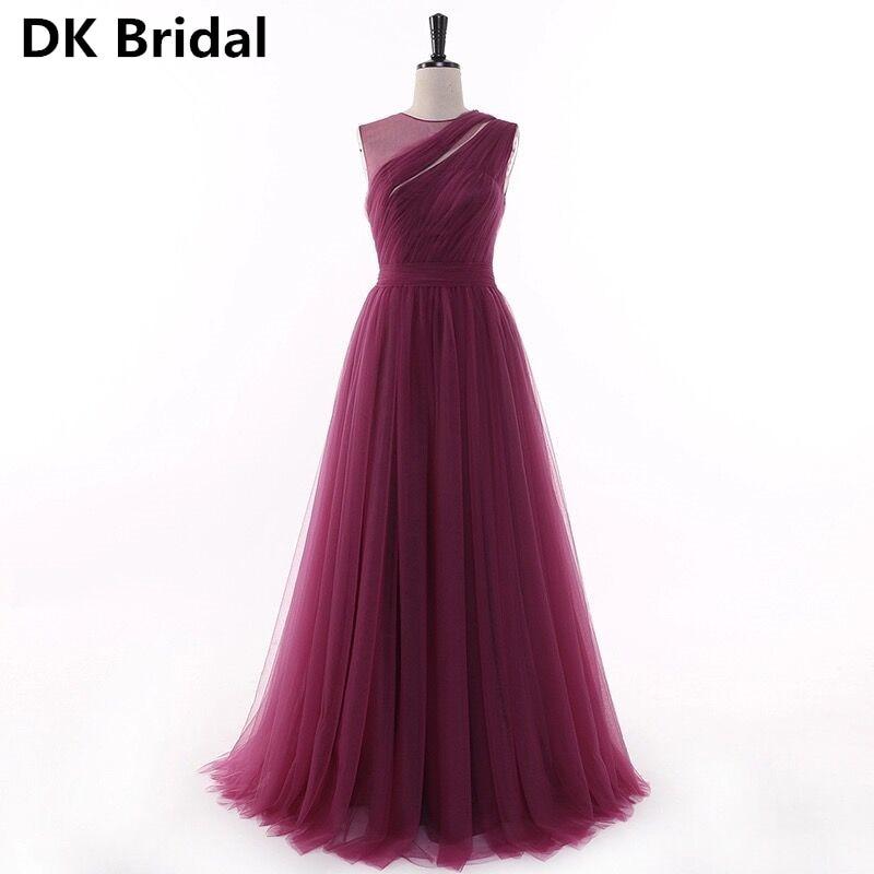 Bridesmaid Dresses Long 2019 New Designer Beach Garden Wedding Party Formal Junior Women Ladies Tulle Dress Wedding Guest Dress