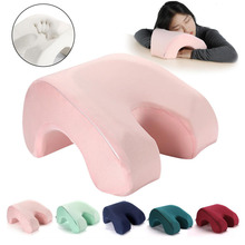 Slow Rebound Pressure Pillow, Nap Sleeping Pillow Cushion Memory Foam Arched Arm Pillow, Prevent Hand Numb Anti Pressure