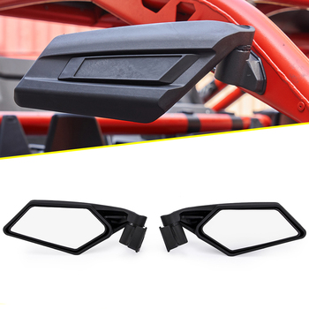 Motorcycle UTV Side Rear View Rearview Mirrors Adjustable For Can Am Maverick X3 2017 2018 For Suzuki Quadracer 450 2006-2009 2017 2018 2019 can am maverick x3 max x3 4x4 utv pair of 2 upper
