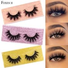 FOXESJI 3D Mink Lashes Makeup False Eyelashes Fluffy Thick Cross Cruelty free Natural Mink Eyelashes Eyelash Extension Lashes