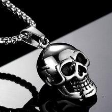 Ожерелье унисекс из нержавеющей стали крутой кулон в стиле ретро