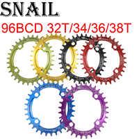 SCHNECKE Oval Kettenblatt 96 BCD für shimano 32 34 36T 38t Zahn einzelnen zahn platte kettenblatt MTB Berg bike 96BCD kette ring