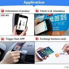 1 шт. Водонепроницаемый ПЭТ материал NFC наклейки смарт клей Ntag213 теги для всех телефонов падение доставка