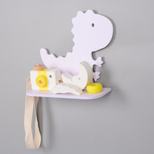 Wall Decor PVC material Dinosaur Shelf Rack Clapboard Animal Wall Shelves Wooden Wall Hanger for Children Room Decoration