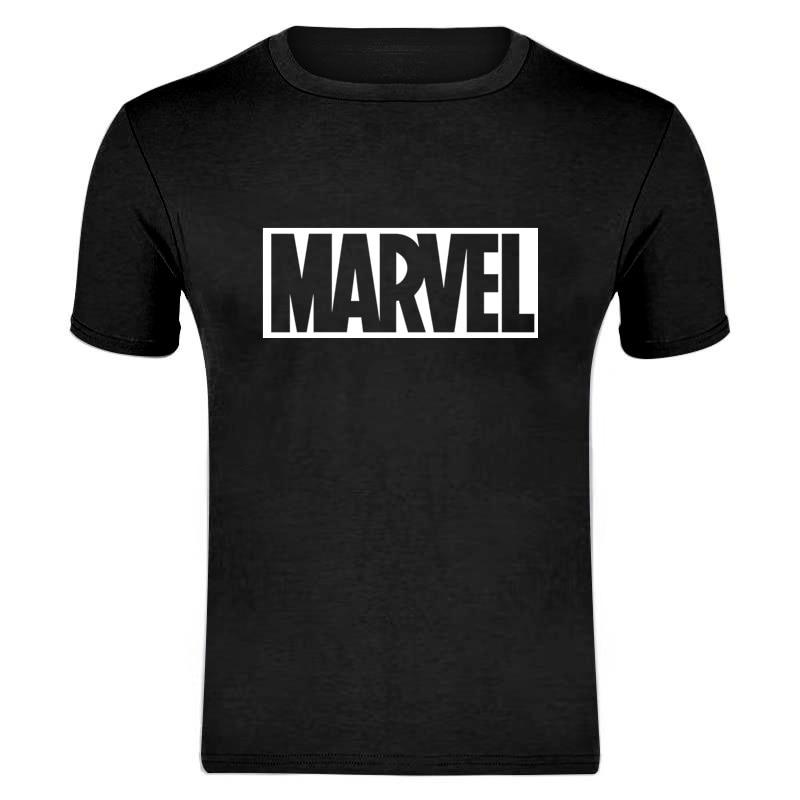 New Fashion Marvel Short Sleeve Couple   T  -  shirts   Men Superhero Print   T     Shirt   O-Neck Comic Marvel   Shirts   Tops Men Clothes Tee