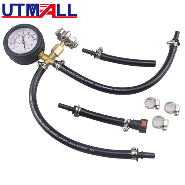 Schnell Verbunden Einspritzpumpe Druck Tester Messgerät Mit Ventil 0 ~ 100PSI