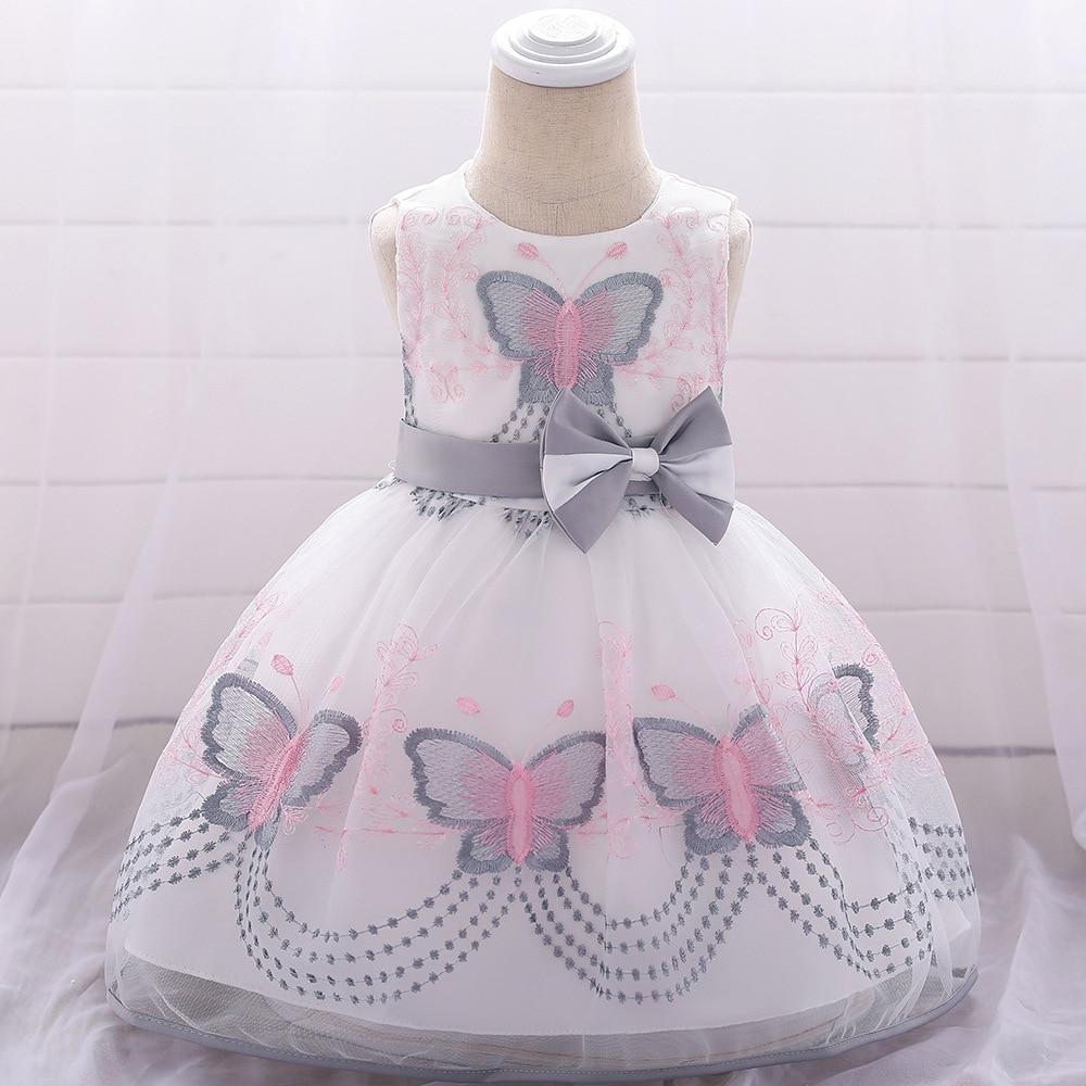 1-3T New Butterfly Embroidered   Flower     Girl     Dress   Floor Length For Wedding