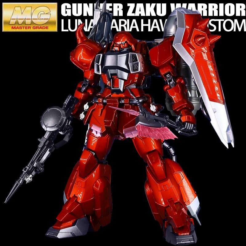 BANDAI MG 1/100 Lunamaria Hawke ZGMF 1000 воин Заку Гундам металлическая раскраска модель игрушки Фигурки Рождественский подарок