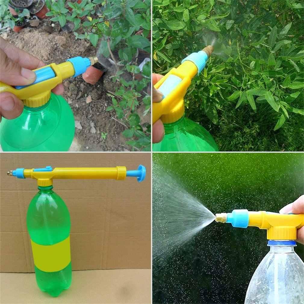 Mini botellas de jugo interfaz Trolley pistola rociador cabeza agua presión plástico agua rociado pesticida 29x3x4 cm