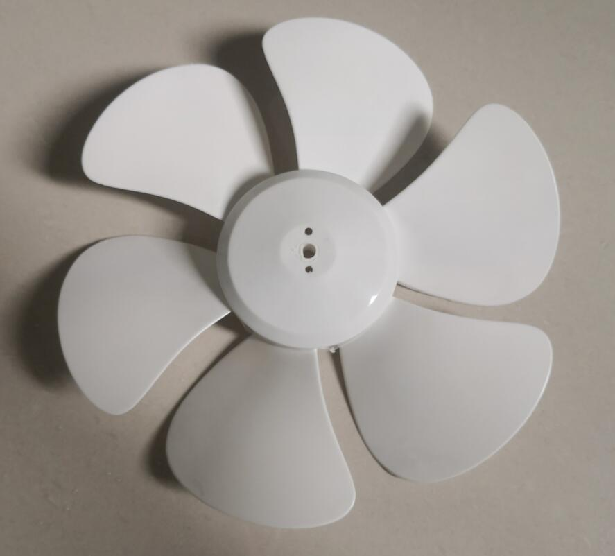 D Shape Hole 8mm 6-blade Exhaust Fan Blade 28cm For 12 Inches Or 300mm Kitchen Fan