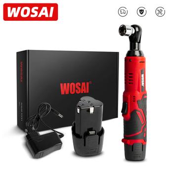 WOSAI 12V MT Series bezprzewodowy klucz elektryczny 45NM 3 8 #8221 klucz grzechotkowy usuwanie nakrętka śruby narzędzia do naprawy samochodu klucz kątowy tanie i dobre opinie Energii elektrycznej NONE Akumulator elektryczny klucz CN (pochodzenie) 30 6*9 6cm WS-B3 Baterii Domu DIY 1 5kg 12 v 380rpm