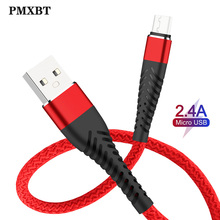 High Quality Micro USB Cable USB-Cable for Samsung Xiaomi Android 2.4A Charge Data Cord usb Charger Mobile Phone