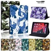 Камуфляжный кожаный чехол подставка для apple ipad/ipad mini/