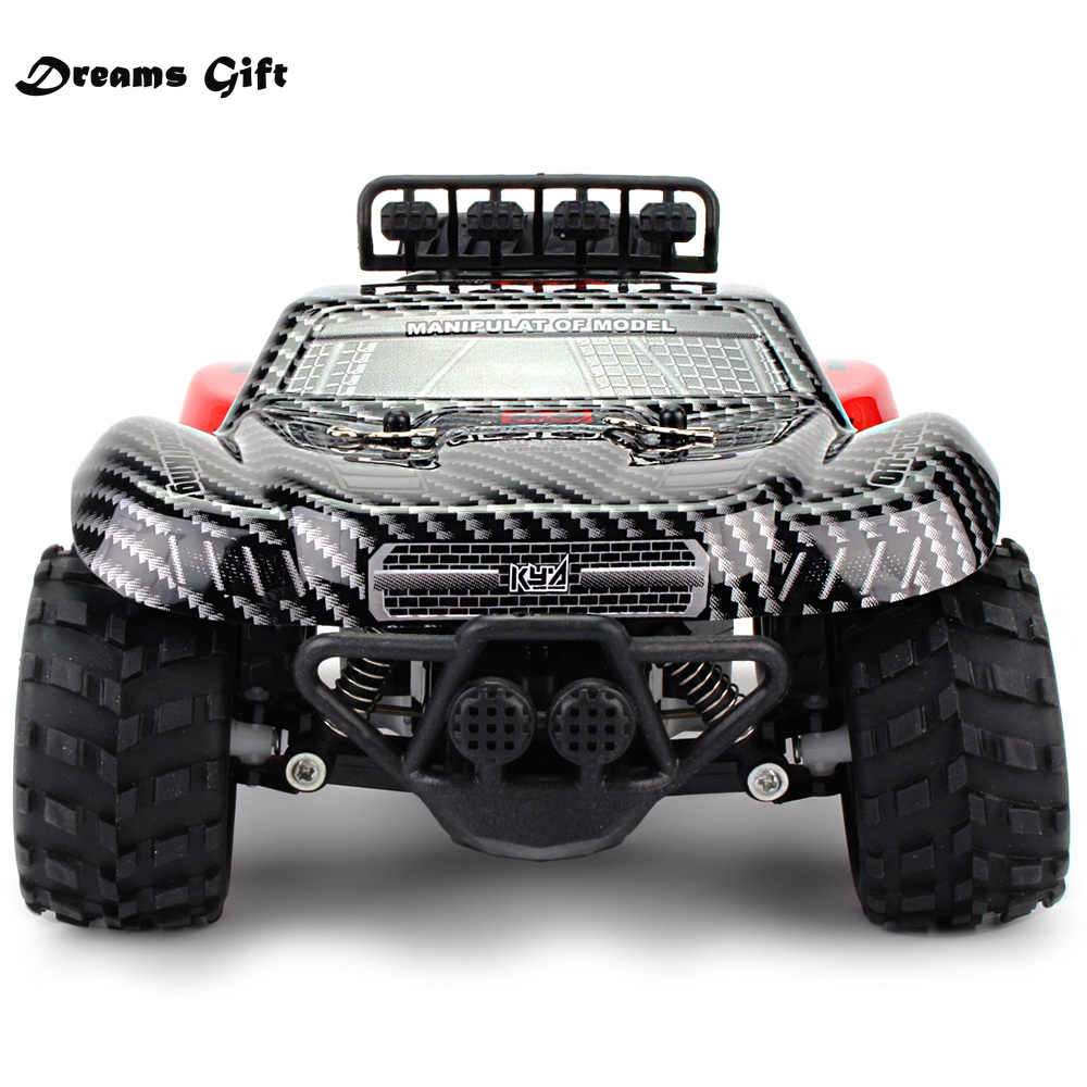 2.4GHz Wireless Remote Control Truk Gurun 18Km/Jam Drift RC Mobil Off-Road Desert Truck Rtr Mainan Hadiah lebih Tinggi untuk Kecepatan Hadiah untuk Anak Laki-laki