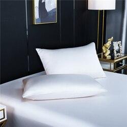 100% natura jedwabna poszewka na poduszkę w kolorze ciemnego fioletu solidna kolorowa poduszka pokrowiec na poduszkę dla zdrowego standardowego króla królowej konfigurowalny