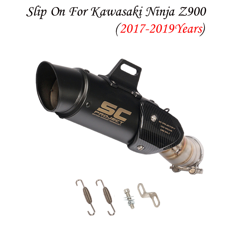 <font><b>Motorcycle</b></font> Z900 Modified <font><b>Exhaust</b></font> Pipe Ninja900 Modified <font><b>SC</b></font> <font><b>Exhaust</b></font> Pipe For Kawasaki Ninja Z900 2017 2018 2019 image