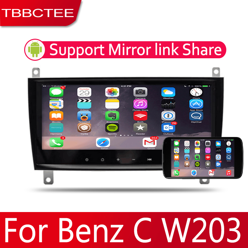 Android 2 Din Car <font><b>radio</b></font> Multimedia Video Player auto Stereo GPS MAP For Mercedes <font><b>Benz</b></font> C Class <font><b>W203</b></font> 2004~2007 Media <font><b>Navi</b></font> image