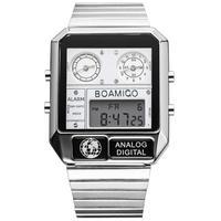 Boamigo marca superior de luxo relógios esportivos homem vestido digital led relógios quartzo à prova dwaterproof água relogio masculino Relógios de quartzo     -
