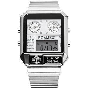 Image 1 - Boamigo marca superior de luxo relógios esportivos homem vestido digital led relógios quartzo à prova dwaterproof água relogio masculino