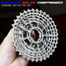 จัดส่งฟรีSLR 11S 28T Cassetteความเร็วแข่งกรวดจักรยาน 36T  34T k7 V  32T CNC Flywheel