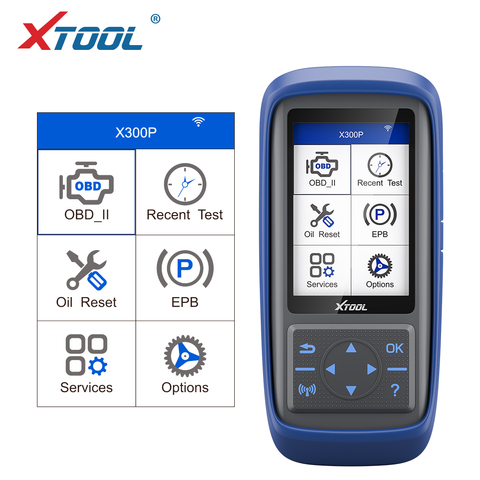 XTOOL X300 P OBD2 Automotive scanner engine Diagnostic tool Battery reset ABS EPB TPS SRS mileage adjustmnet reset Tool upgrade