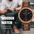 BOBO BIRD деревянные часы мужские bayan kol saati кварцевые мужские часы со светящимися стрелками в деревянной подарочной коробке WD30-1