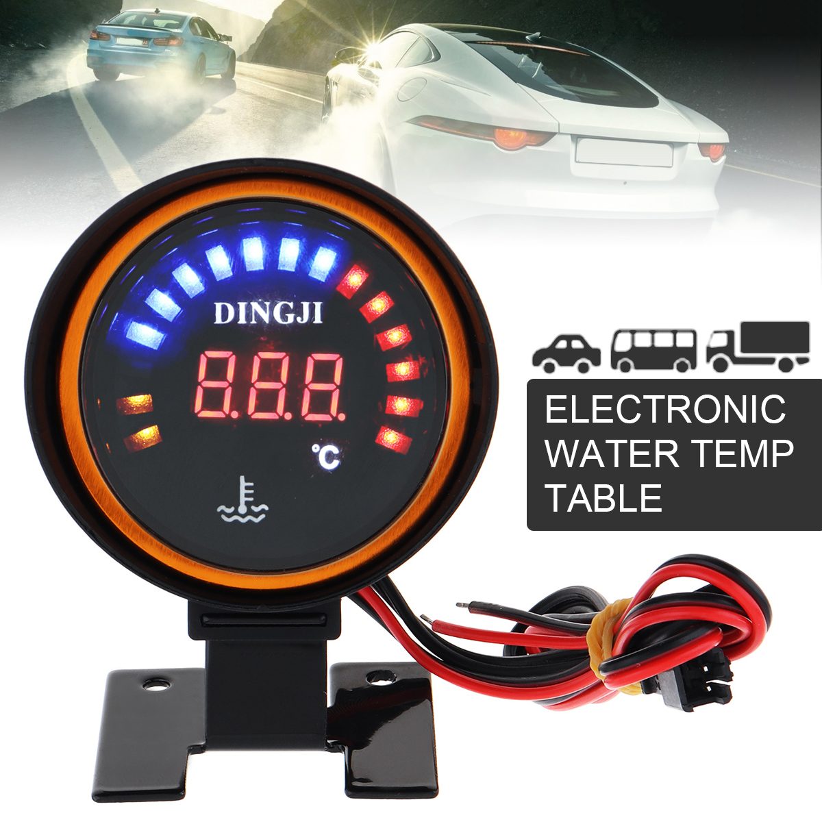 2 Inch 52mm Car Truck Universal Digital LED Oil Temp Temperature Meter Gauge New