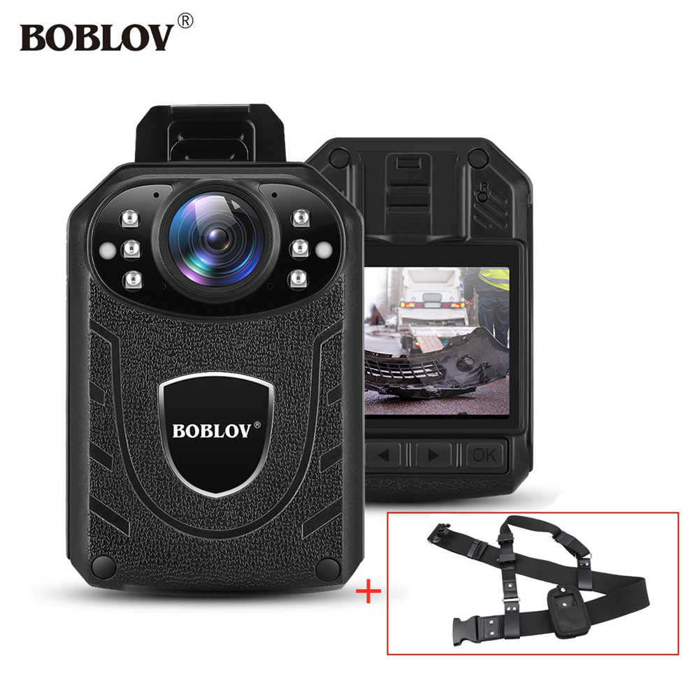 Boblov KJ21 Body Worn Camera HD 1296P DVR Video Security Cam IR Night Vision Chest Belt Wearable Mini Camcorders police camera|Mini Camcorders| |  - title=