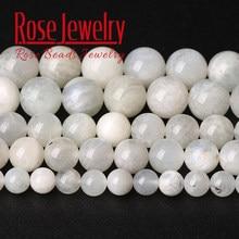 A + contas de pedra natural azul grânulos de pedra redonda solta grânulos de pedra para fazer jóias diy pulseira colar 15
