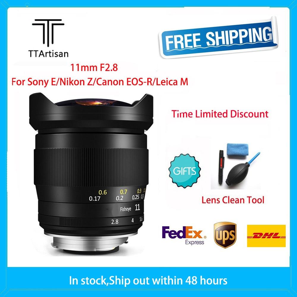 TTArtisan 11mm F2.8 Full Fame Fisheye Lens for Leica M L Mount/Canon RF/NIKON Z Cameras Like M-M M9 M10 Sony A7R3 A9