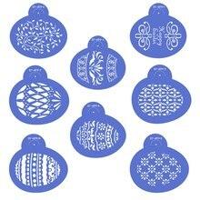 8 шт/компл трафареты для печенья в форме пасхального яйца форма