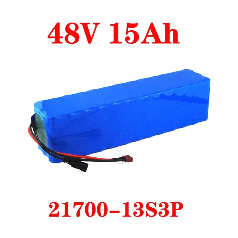 LiitoKala 48V 15AH 21700 13S3P yüksek güç 500W elektrikli bisiklet pil e-bike pil 48V15ah lityum pil ile 50A BMS
