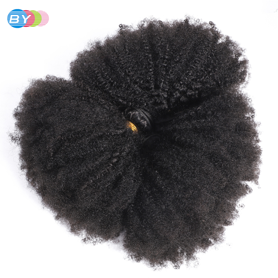 BYRemy-mechones rizados brasileños Afo, extensiones de cabello humano mechones de pelo ondulado mechones naturales de Color Natural de 8-20 pulgadas