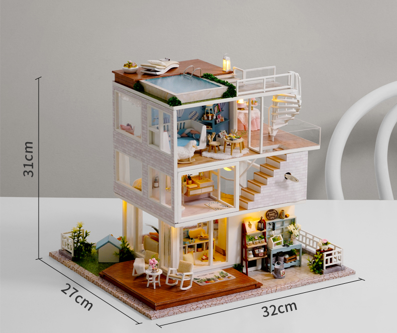 Home Sweet Home DIY 3D Miniature Dollhouse