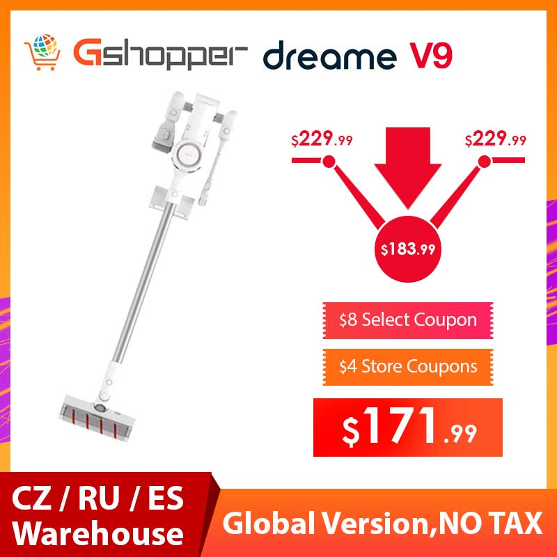 2019 Xiaomi Dreame V9 Vacuum Cleaner Handheld Cordless Stick Aspirator Vacuum Cleaners 20000Pa Car From Xiaomi Youpin