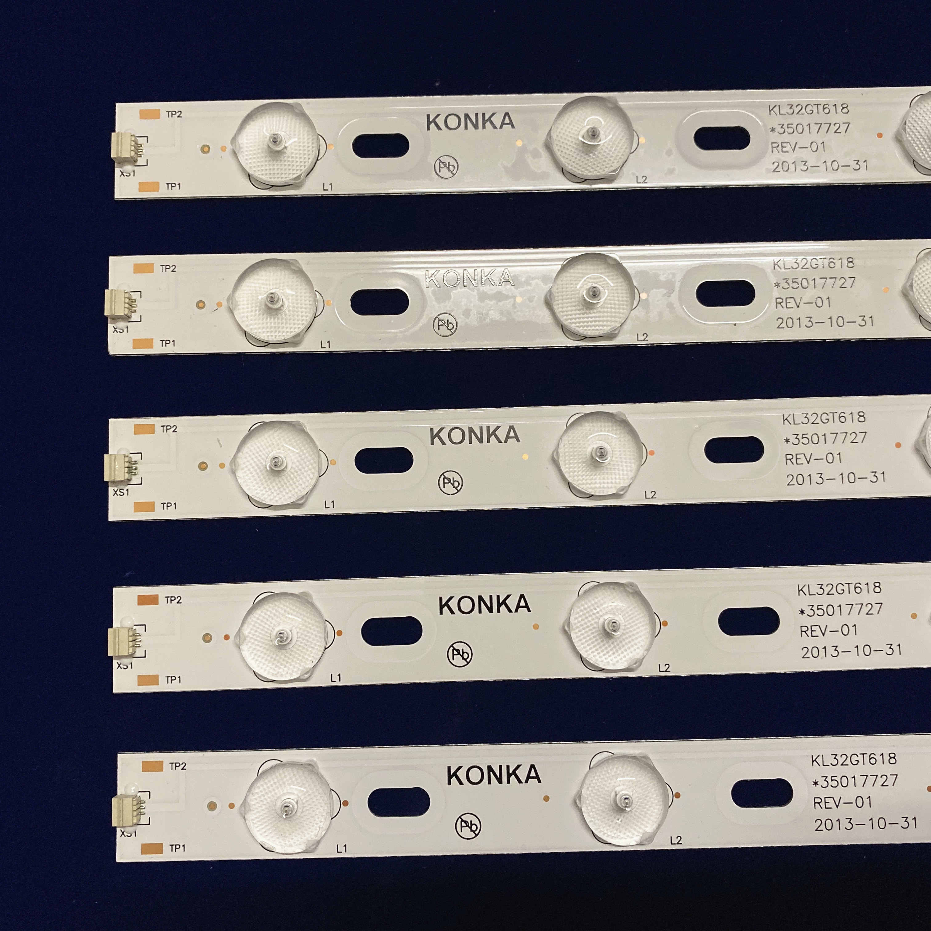 Oryginalny dla 32 cal telewizor z dostępem do kanałów KL32GT618 podświetlenie Led 35017727 1 sztuk = 10 led 644mm 6v