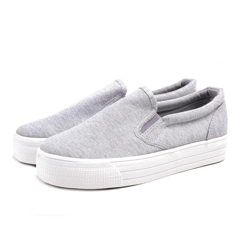 2020 3cm Platform Women Shoes Thick Sole Woman Casual Shoes Canvas Shoes
