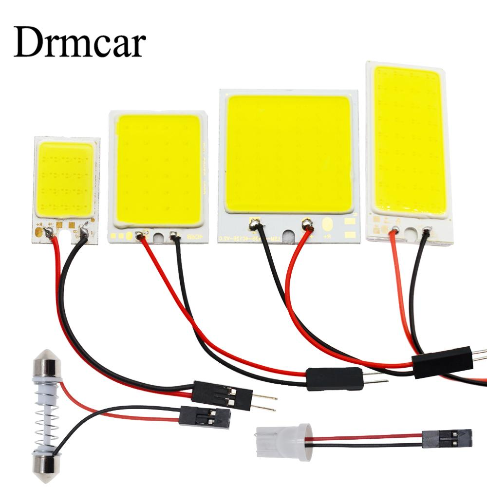 T10 W5W Auto Interior Reading Cob 24SMD 36SMD 48SMD Light Dome Festoon Car Led Vehicle Panel Lamps  BA9S DC 12v Car Styling
