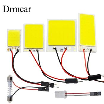 T10 W5W Auto Interior Reading Cob 24SMD 36SMD 48SMD Light Dome Festoon Car Led Vehicle Panel Lamps  BA9S DC 12v Car Styling new light 6pcss lot cob led 12v 24v 15smd round panel light white with t10 festoon adapters interior dome lamps