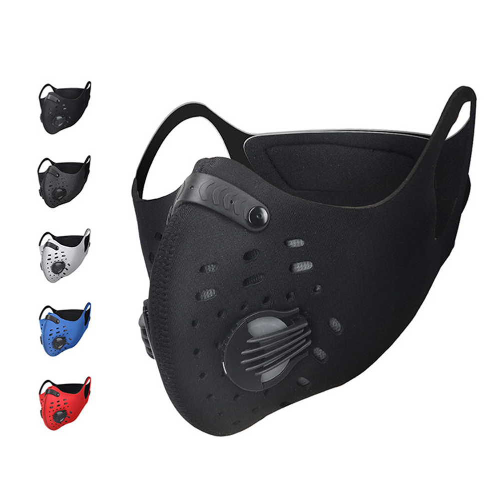 Anti Pm2.5 Mask For Face Anti Dust Mouth Mask Respirator Mask With Carbon Filter Respirator Mask For Winter Cycling Running