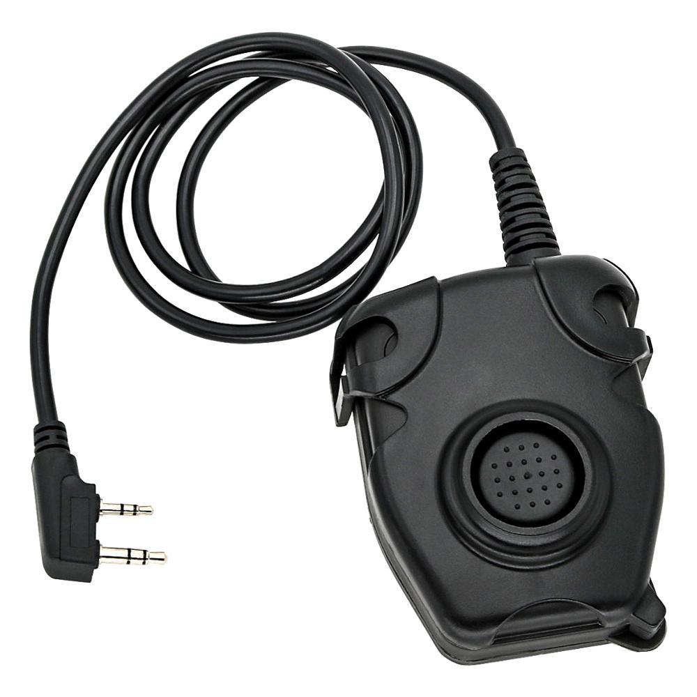 Купить с кэшбэком Outdoor sports military tactical headset walkie-talkie accessories headphone adapter PELTOR PTT push-to-talk