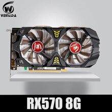 Video Karte RX 570 DirectX 12 8GB 256 Bit GDDR5 rx 570 PCI Express 3,0 x16 DP HDMI DVI Bereit für AMD Grafikkarte geforce spiele