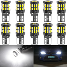 10 adet T10 için LED ampuller BMW E90 E60 beyaz 168 501 W5W LED lamba kama araba iç aydınlatma 12V 6000K kırmızı Amber sarı mavi