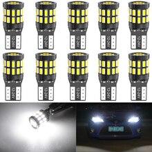 10 sztuk T10 LED żarówki Canbus dla BMW E90 E60 biały 168 501 W5W lampa LED klin światła wewnątrz samochodu 12V 6000K czerwony bursztyn żółty niebieski